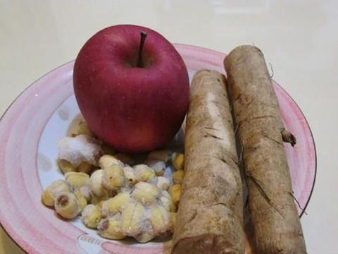 牛蒡莲子苹果茶,夏季消炎、清热的汤品,帮助孩子感冒快快好