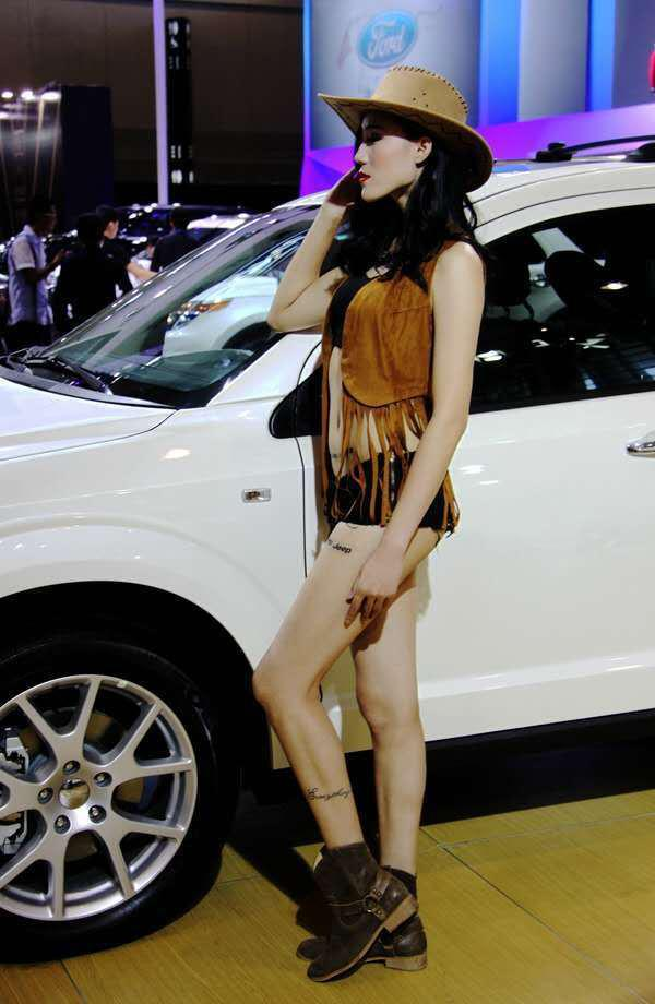 美系车是真不吃香`车模助阵都带不动销量