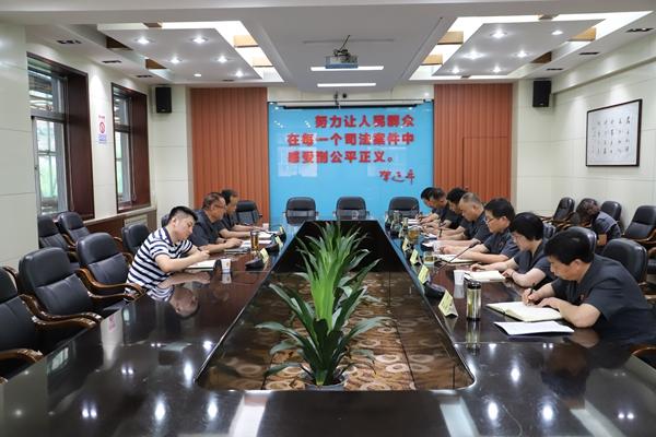 西安市法院纪检组长张小齐赴长安法院调研