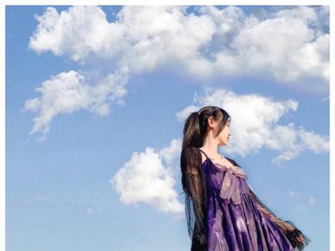 杨清柠COS紫霞仙子,等到了她最爱的至尊宝,网友:请原地结婚