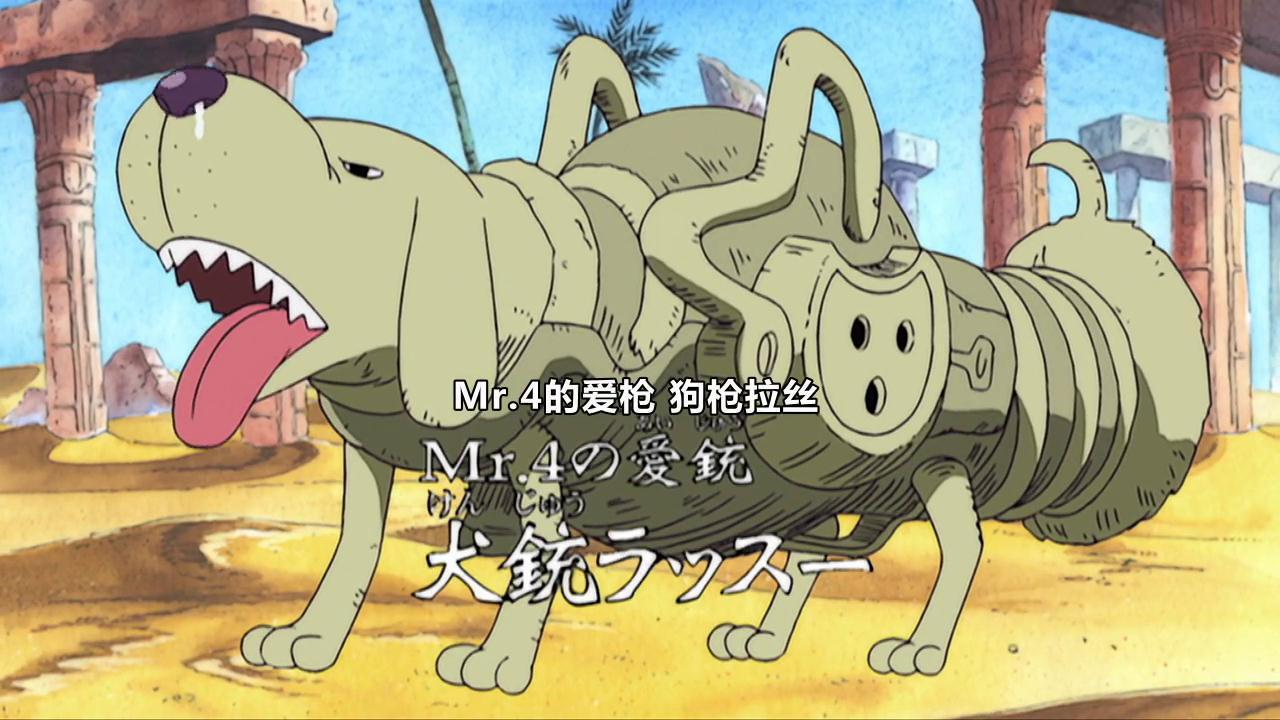 犬犬果实,海贼王一共出现了6个,有2个被物品吃了