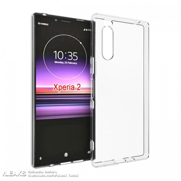 索尼Xperia 2保护套渲染图曝光:背面非六摄方案