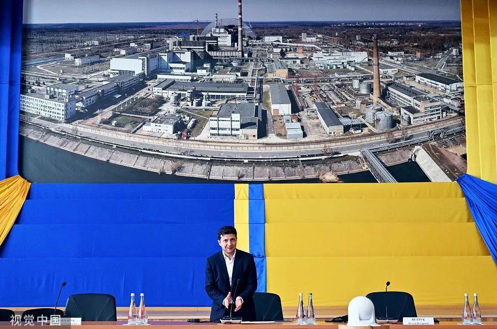 乌克兰总统泽连斯基宣布在切尔诺贝利隔离区为游客创造一条绿色走廊。/视觉中国