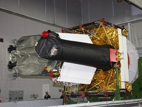 """质子-M火箭携""""光谱-RG""""天文台从拜科努尔航天发射场发射"""