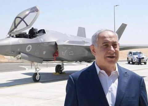 以色列总理站在F-35战机前对伊朗发出军事威胁