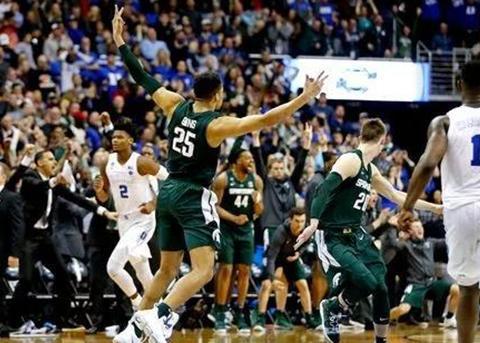 """杜克不敌密歇根州立,""""准状元""""魔咒在NCAA赛场再度应验"""