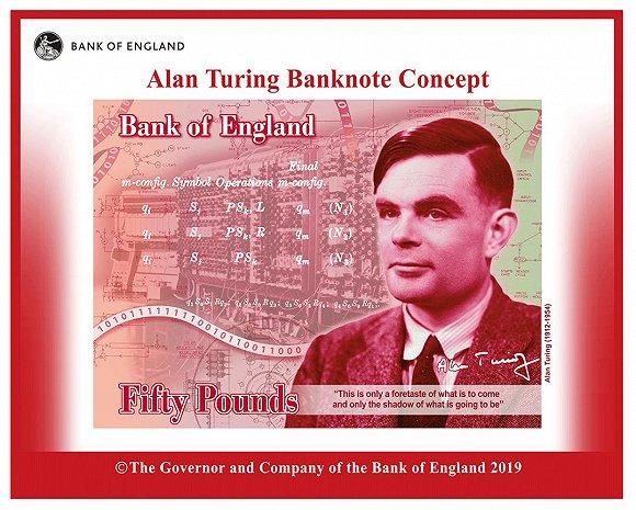 """比肩英女王,""""AI之父""""图灵取代瓦特,登上50英镑新钞"""
