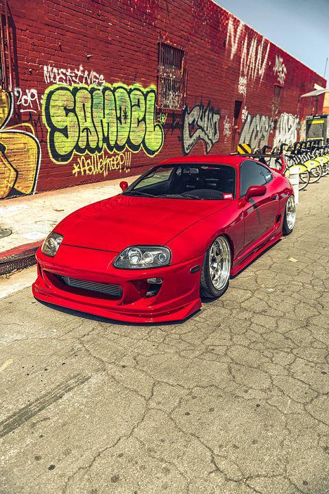 改装1993年红色丰田Supra Mk4 发烧友的经典收藏之作