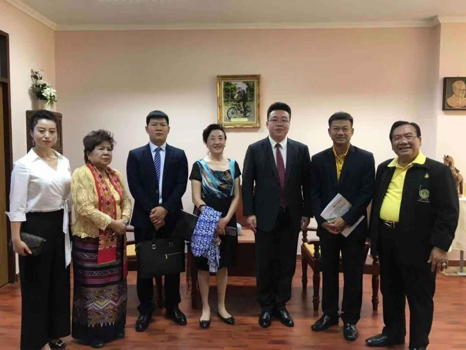 中国智慧工程研究会代表团一行赴泰王国猜纳府考察交流
