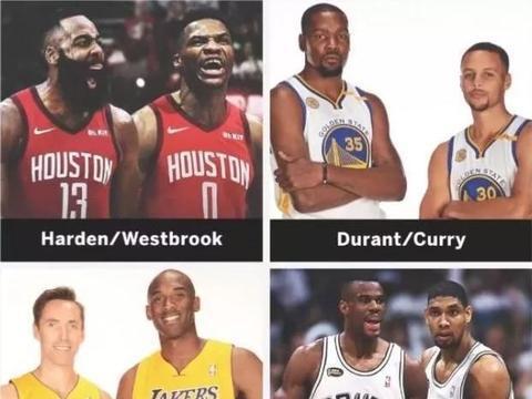 NBA新世纪双MVP组合竟有6组!仅2队能夺冠现役这对能夺冠吗?