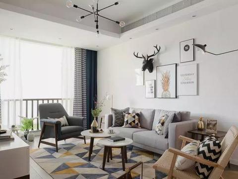 83平温馨北欧风,房子装修这么漂亮,难道业主是学美术的!