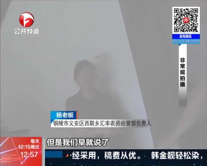 《新闻午班车》铜陵:生姜遭殃因使用不当  赔偿事宜尚有待协商