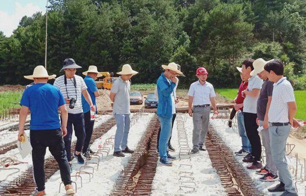 安徽岳西首次采用单梁静载试验对工程质量抽检