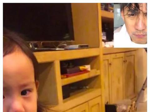 孙莉小女儿太倔强,和爸爸黄磊视频敢瞪眼,委屈就哭还不理人
