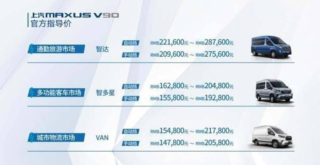 上汽大通V90正式上市,售价14.78-28.76万元