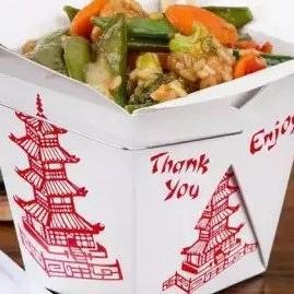 你发现没?美国的外卖餐盒上有座中国的古塔