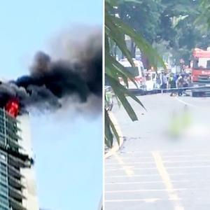 深圳一住宅顶层起火男子坠楼,初步调查疑为纵火后跳楼自杀!