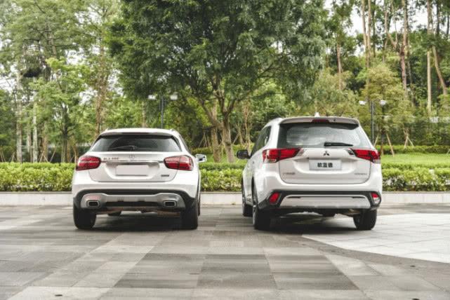 紧凑型SUV的正面碰撞,广汽三菱欧蓝德对比奔驰GLA
