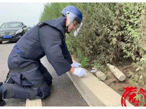 哈尔滨松北区一工地发现两枚炮弹,一枚还带引信