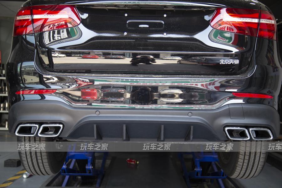 奔驰GLC-L升级GLC63 AMG包围阀门排气 更运动