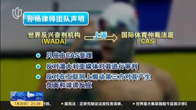 孙杨要求国际体育仲裁法庭听证会公开受理
