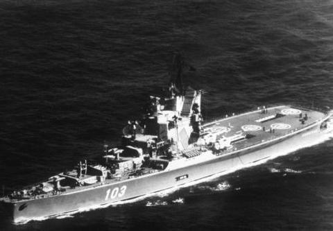 """苏联海军史上的第一艘""""航空母舰""""——莫斯科号直升机航母"""