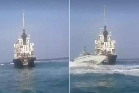 伊朗5分钟俘虏油轮,美军急速发射导弹:一艘美方神盾舰临阵脱逃
