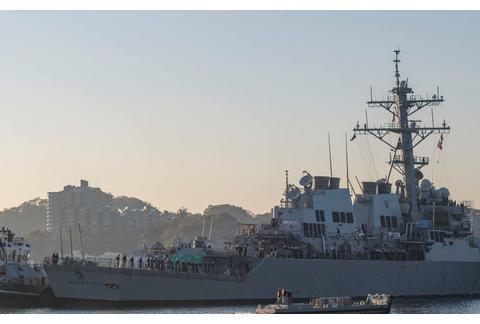 """美军被撞""""麦凯恩""""号驱逐舰又有新问题,大轴歪了,原因竟是这个"""
