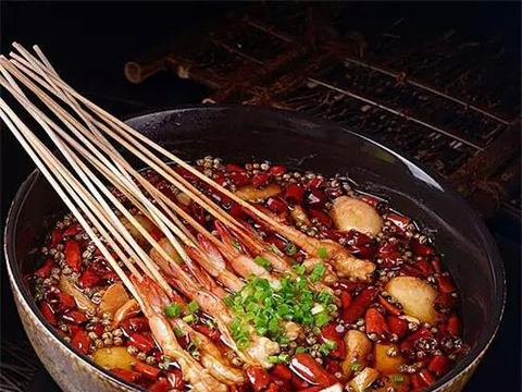 「川菜」招牌竹节芋儿虾,虾肉鲜甜爽脆带着辣味,非常够劲