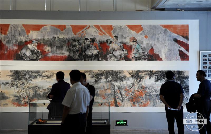 单国栋艺术之路美术作品巡回展亮相甘肃省博物馆