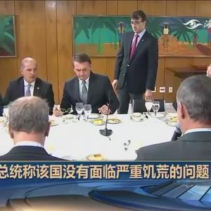 巴西总统会见驻外记者时承认,该国没有面临严重饥荒问题
