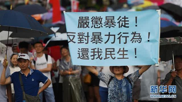 7月20日在香港添马公园拍摄的集会现场 图自新华社