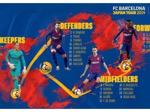 巴萨公布亚洲行名单:梅西苏神因美洲杯缺席 格子领衔3新援在列