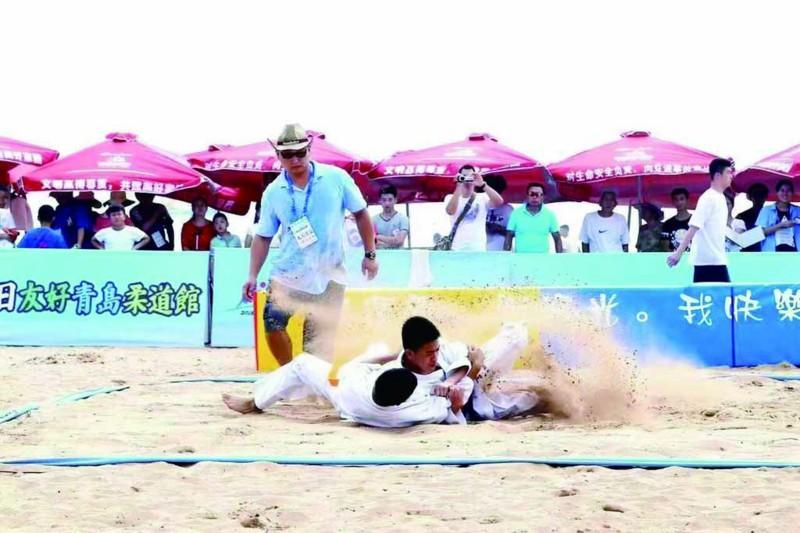 今天去三浴看沙滩柔道赛!世界冠军、日柔道家亮相