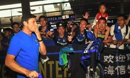 萨内蒂感谢中国球迷:一来南京就感受到了你们的热情