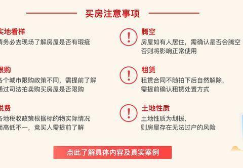 """购房占司法拍卖的""""便宜""""应注意6方面"""
