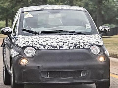 菲亚特500 EV谍照 微型电动车界的萌宠