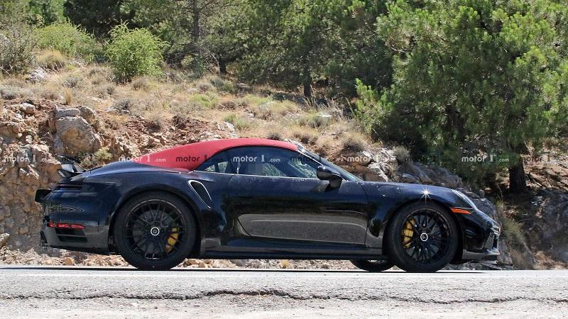 采用最新设计/750牛·米 2020款保时捷911 Turbo敞篷版谍照曝光