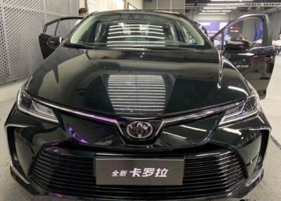 全新丰田卡罗拉现身!黑色车身比较大气 标配8气囊 换装四轮独悬