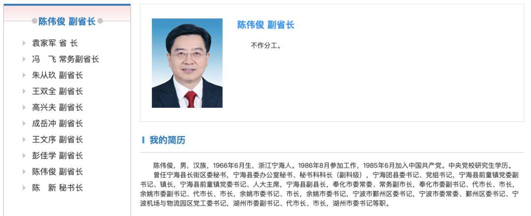 """浙江""""最年轻""""常委和副省长 都与这个市有关"""