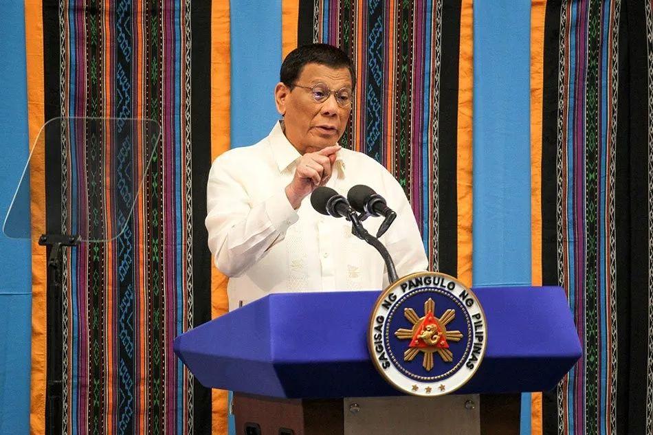 菲律宾总统杜特尔特 22 日在国会发表国情咨文。 图源:ABS-CBN新闻网