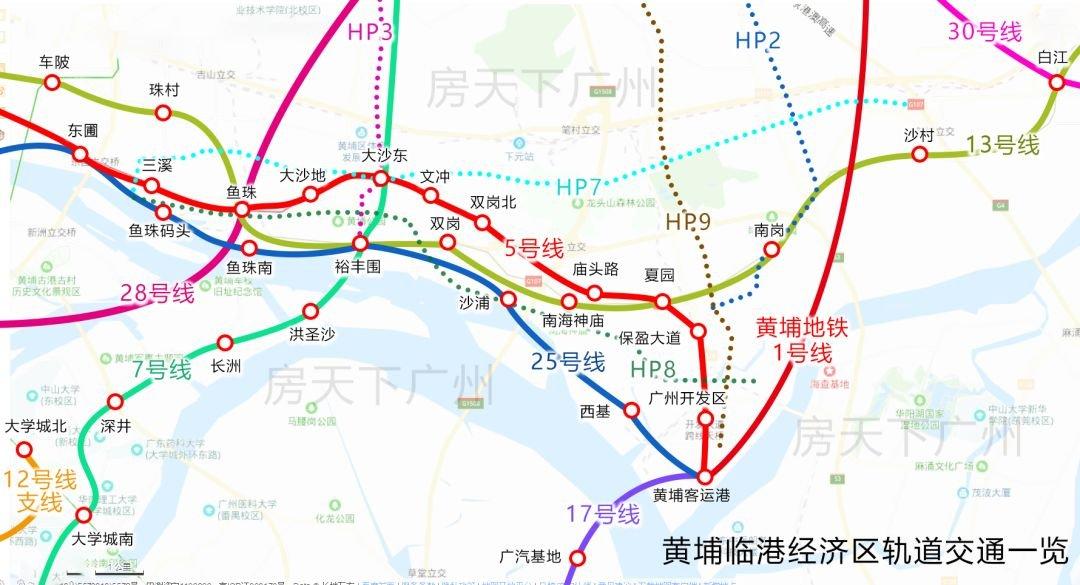 一图看懂广州第二CBD轨道交通规划!15条轨道+2条高铁+1座国际游轮港!