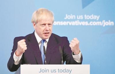 """当选执政党保守党党首,重申10月31日以前完成""""脱欧""""鲍里斯·约翰逊今日接任英国首相"""