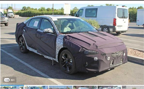 疑似测试车被捕获 Hyundai Elantra大改款车型海外现身?
