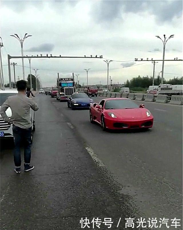 """哈尔滨首辆""""擎天柱""""出街,百万跑车护航,不乏兰博基尼法拉利!"""