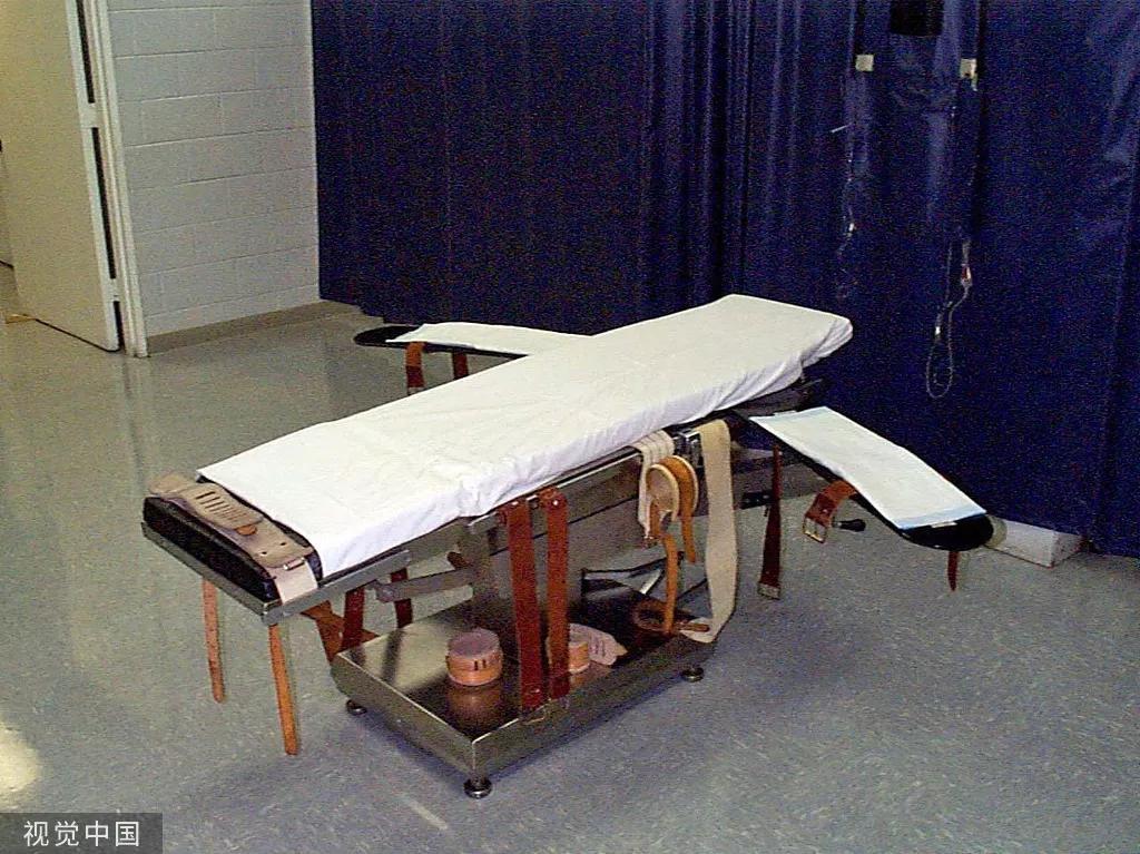 美國注射死刑所用的輪牀。圖源:視覺中國