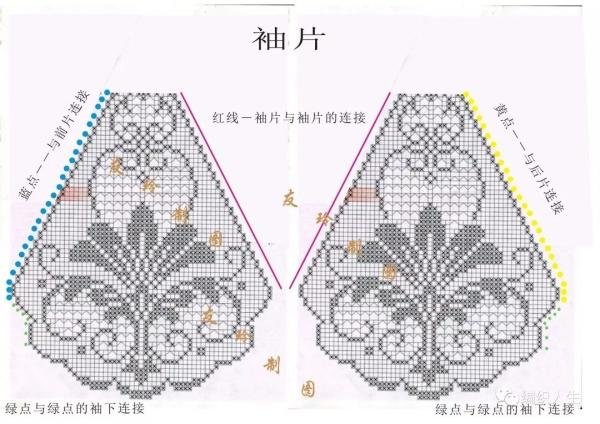 铁树花:女士钩针蕾丝方格编短开衫(附图解)