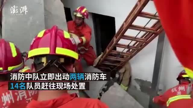 杭州良渚一幢民房在改造时坍塌,2人伤