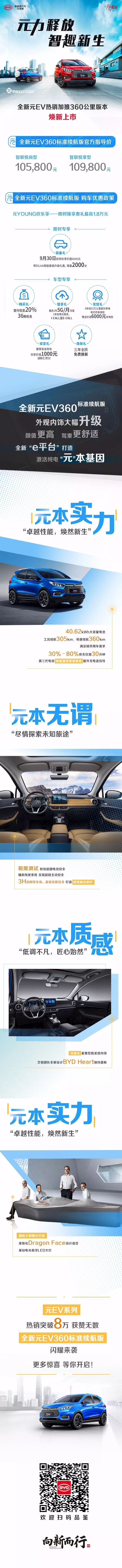 焕新来袭丨全新元EV360标准续航版上市