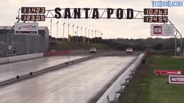视频:这次主角是高尔夫GTI,各年代GTI跑直线加速